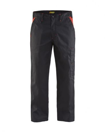 Blaklader 1404 Industry Trousers 65% Polyester, 35% Cotton Twill (Black/Red)